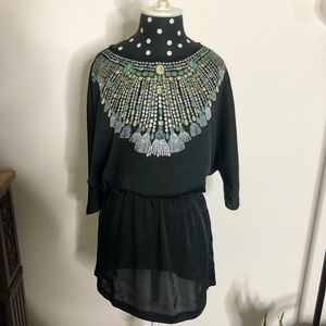 Michael Kors tunic with faux beaded top